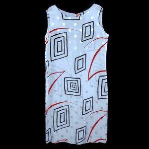 Vintage Square Pattern Sun Dress 18 Semi Sheer